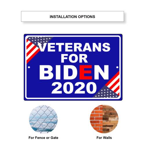 Veterans For Biden 2020 Vote For USA President Elections Aluminum Metal Sign