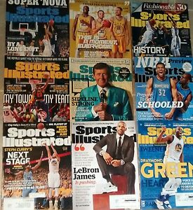 Sports-illustrated-magazine-lot-basketball-2015-2016-lot-Lebron-Curry-Green