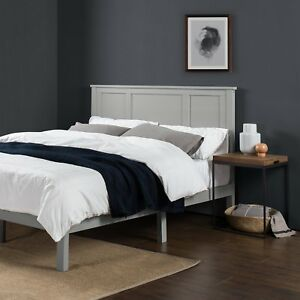 Zinus Wood Country Style Platform Bed With Headboard No