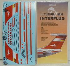 IL-62 M , Interflug,  Decal/Abziehbild, 1/72, BOA, für Zvesda, Neu