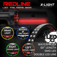 60 Flexible Truck Led Tailgate Light Bar + 8 Pod White Led Truck Bed Light Kit