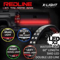 60 Flexible Truck Led Tailgate Light Bar + 8 Pod White Led Truck Bed Light Kit