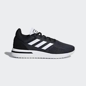 wholesale dealer 42658 7b392 Image is loading Mens-Adidas-Run-70s-Essentials-Black-Sneaker-Athletic-