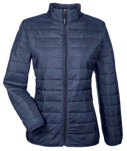 WATER RESISTANT PACKABLE XS-3XL POCKETS LADIES INSULATED ZIP UP PUFFER JACKET