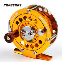 1pc Fishing Reel Glod Color Fly Reel 3/4 128g Fly Fishing Wheel Diameter 60mm