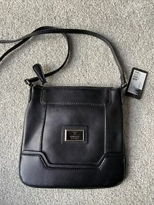 Guess Black Messenger Handbag Bag BNWT