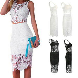 Women-039-s-Ladies-Summer-Bodycon-Lace-Sleeveless-Evening-Party-Cocktail-Mini-Dress