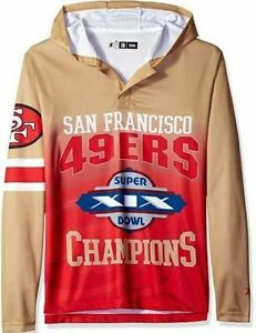 WT NFL San Francisco 49ers Super Bowl XIX Champions Hooded Hoody ... cc507ce40