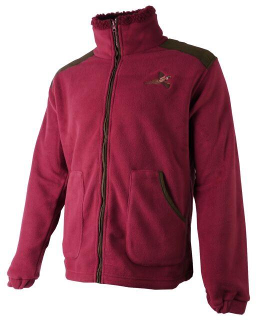 Champion Glen Padded Warm Hunting Fleece Winter Shooting Coat Pheasant Motif