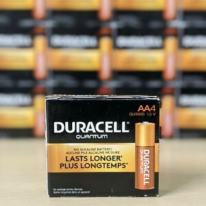 Duracell Quantum AA Alkaline Battery With Powercheck QU1500 USA Made - 4 Pack