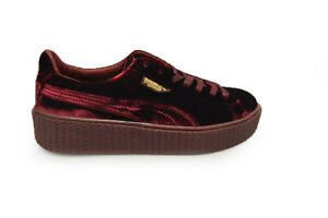 Womens Puma 36446602 Velvet Rihanna Burgandy By Creeper Royal 0mOnvN8w