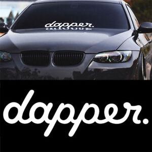 White-Dapper-Car-Styling-Sticker-Decals-Front-Rear-Window-Windshield-Door-Decor