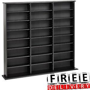 Image Is Loading Wall Bookcase Storage Organizer Bookshelf Tower Black Wood