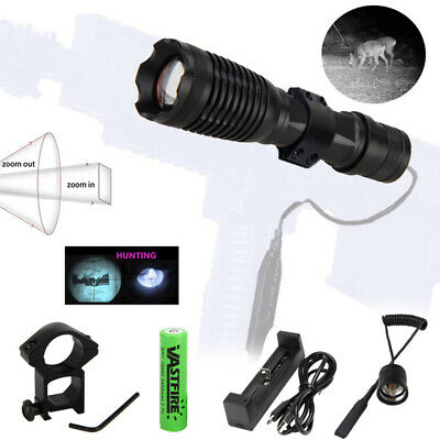 Zoom Focus10W IR 940nm LED Infrared Night Vision Torch 18650+Remot Switch+Mount