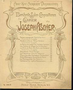 034-DANSE-ESPAGNOLE-034-Op-24-von-Joseph-Ascher-uebergrosse-alte-Noten
