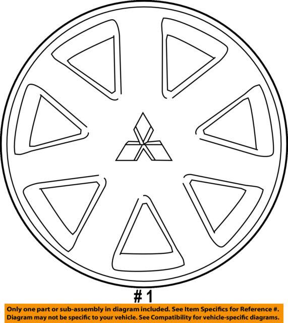 Mitsubishi Oem 06 12 Galant Wheels Wheel Cover 4252a072ha
