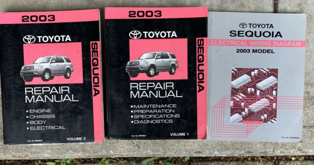 2003 Sequoia Repair Manual Volume 1 And 2 And Electrical Wiring Diagram