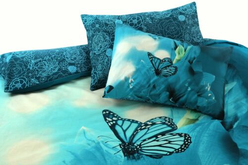 3D PANEL PRINTED POLLY COTTON DUVET QUILT COVER BEDDING SET WITH PILLOWCASE