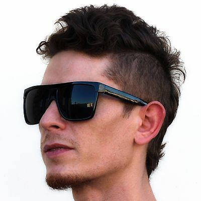 Oversize Aviator Flat Top Square Vintage Retro Fashion Men Women Sunglasses