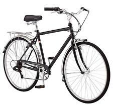 Schwinn Men's Wayfarer Hybrid Bike 7 Speed Black Retro Style