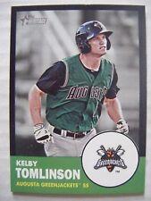 KELBY TOMLINSON #/96 BLACK BORDER 2012 Topps Heritage Minor baseball card GIANTS