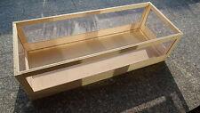 Landschildkröten Terrarium Holz 150x55x40 Schreiner-Qualität   Kein Bausatz !