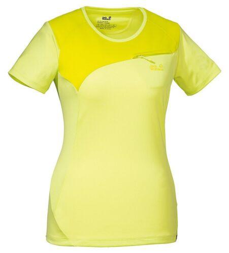NEU JACK WOLFSKIN ALPINE T Women Funktionsshirt Sportshirt T-Shirt gelb M 38 40