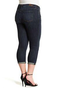 Kut-from-the-Kloth-Womens-22W-Bardot-Crop-Skinny-Boyfriend-Jeans-Stretch-NEW-89