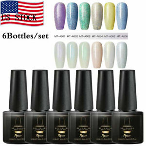 6Bottles-set-MTSSII-Pearl-Glitter-Soak-Off-UV-Gel-Nail-Polish-Varnish-Manicure