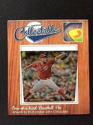 Baseball & Softball Zielstrebig Washington Nationals Stephen Strasburg Revers Pin-collectable Memories-fan Fav Rabatte Verkauf