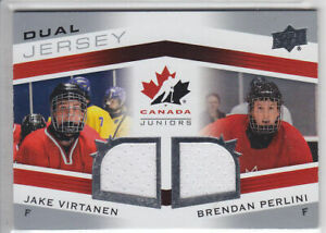 2014-15-UD-CANADA-JUNIORS-VIRTANEN-PERLINI-DUAL-JERSEY-GAME-USED-Upper-Deck