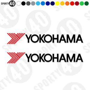 Yokohama pneus-Vinyl Decals//Stickers 2519-0519 2 couleurs-Yokohama pneus