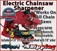 Electric Sharpener Chainsaw Chain Blade Link Grinder Bench Mountable 4200rpm