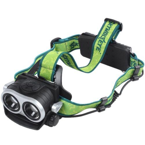 SKYWOLFEYE 8000LM 2X XM-L T6 LED Rechargeable 18650 USB Headlamp Headlight  C7W9