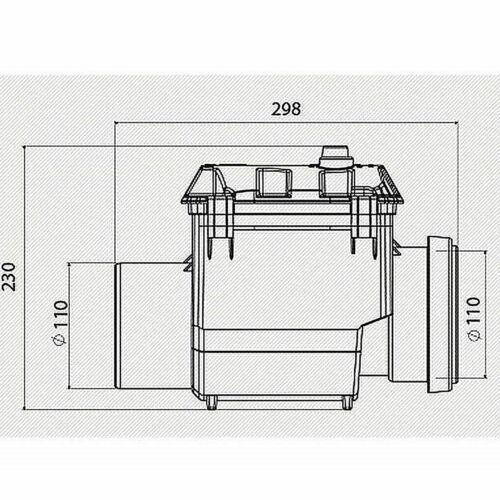 Rückstauverschluss Ø DN100 Rückstauventil  mit Klappe Wasserwaage Abwasserrohr