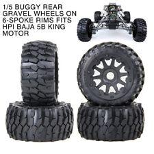 4 Buggy Baja Knobby Bowtie Wheels on 6 Spoke Rims Fit HPI Baja 5B King Motor
