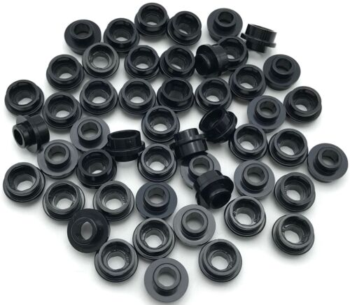 Lego 50 New Black Plates Round 1 x 1 with Open Stud