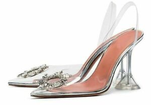 Peep-Toe-Women-Pumps-Summer-Transparent-Pvc-Party-Crystal-Shoes-High-Heels-Clear