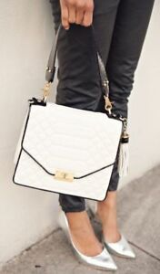 aac9a9c47d23 Image is loading BRAHMIN-QUILTED-OPHELIA-TOP-HANDLE-FLAP-FLORENTINE-WHITE-