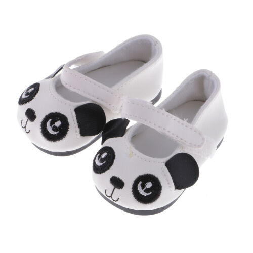 Cute Cartoon Panda Design Flats Shoes for 18 inch AG American Doll Doll