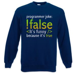 Science Joke Ponticello Fun Scientist Computer Programmatore Programmer Sweatshirt Computer xwAdIdH7