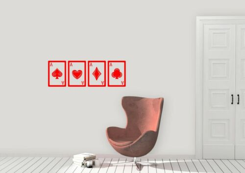 Game Of Aces Design Card Games Home Decor Wall Art Decal Vinyl Sticker