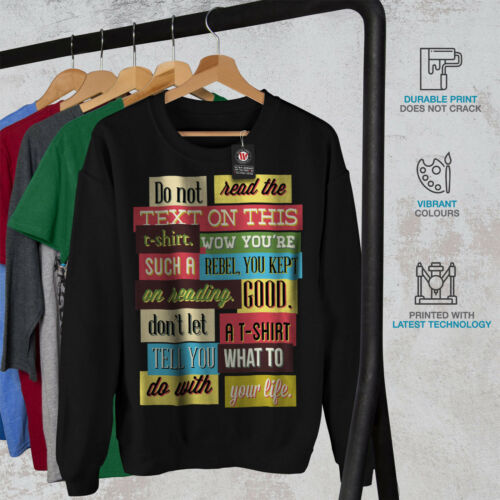 texto No New Men leer Funny Sweatshirt Black Z6qnA6xw