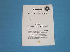 Gebrauchsanweisung  für Atemregler Comex Tekstar EPI Type III, auf französisch,§