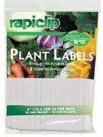 (6) Ea Luster Leaf 827 50 Pack 4 White Plastic Plant Label Markers