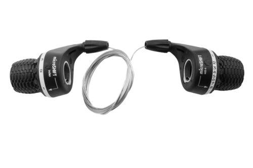 Compatible SHIMANO Set 24 Vitesses MICROSHIFT Twist Grip Bike Gear Shifters 8 x 3
