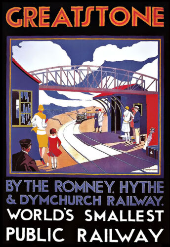 Greatstone Romney Hythe /& Dymchurch Railway World Smallest Public Railway Poster