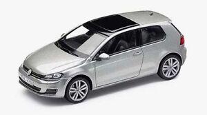 GENUINE-VW-GOLF-MK7-2-DOOR-TUNGSTEN-SILVER-METALLIC-1-43-SCALE-DIECAST-MODEL-CAR