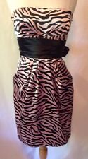 Jump Apparel Prom Dress Size 4 Pink Black Satin Zebra Print Short Mini Skirt