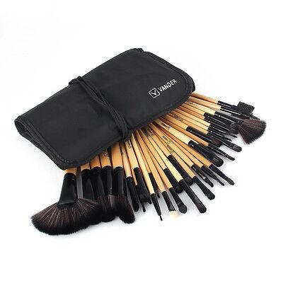 Vander 32Pcs Brocha Pinceles de Maquillaje Kit de Madera Cosmético profesional